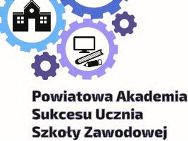 Baner kierujący do Powiatowej Akademii Sukcesu Ucznia Szkoły Zawodowej
