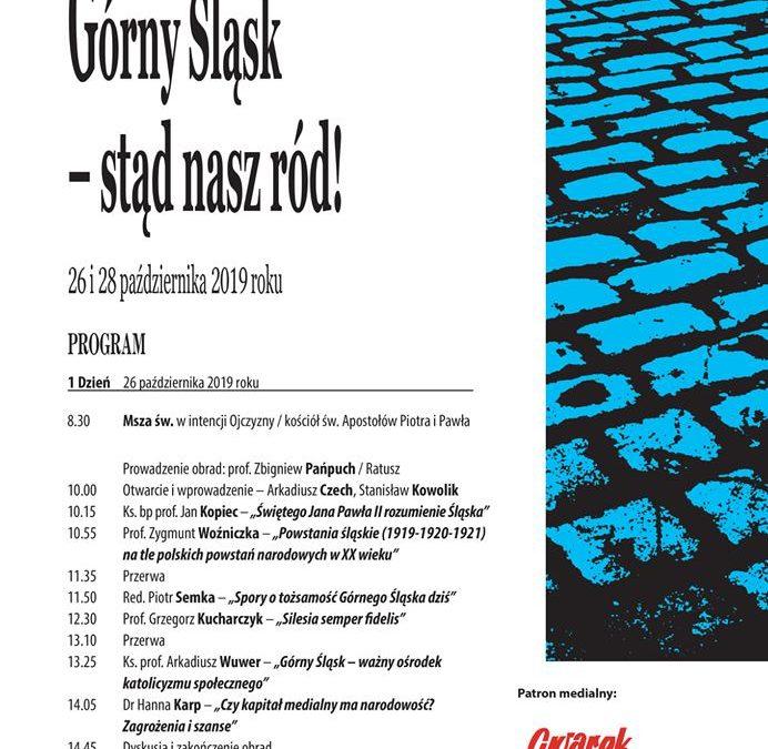 XVIII Sympozjum Tarnogórskie – Górny Śląsk – stąd nasz ród !