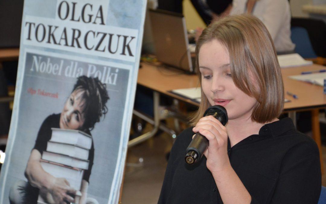 Na sesji czytano fragmenty książek Olgi Tokarczuk