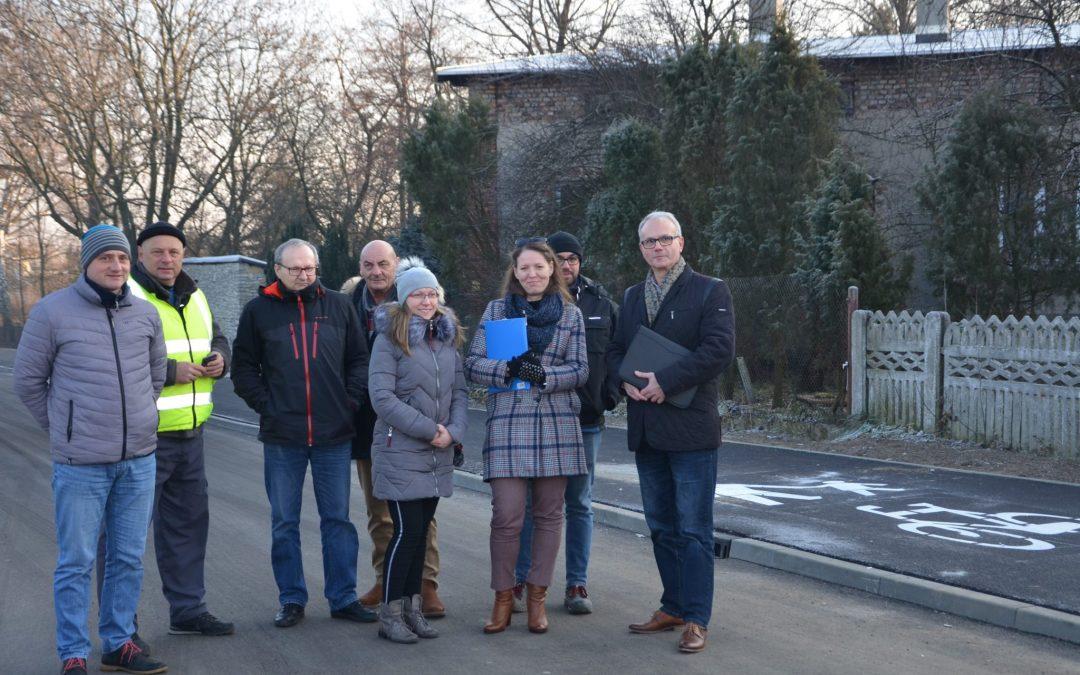 Odbiór końcowy drogi powiatowej w Ossach