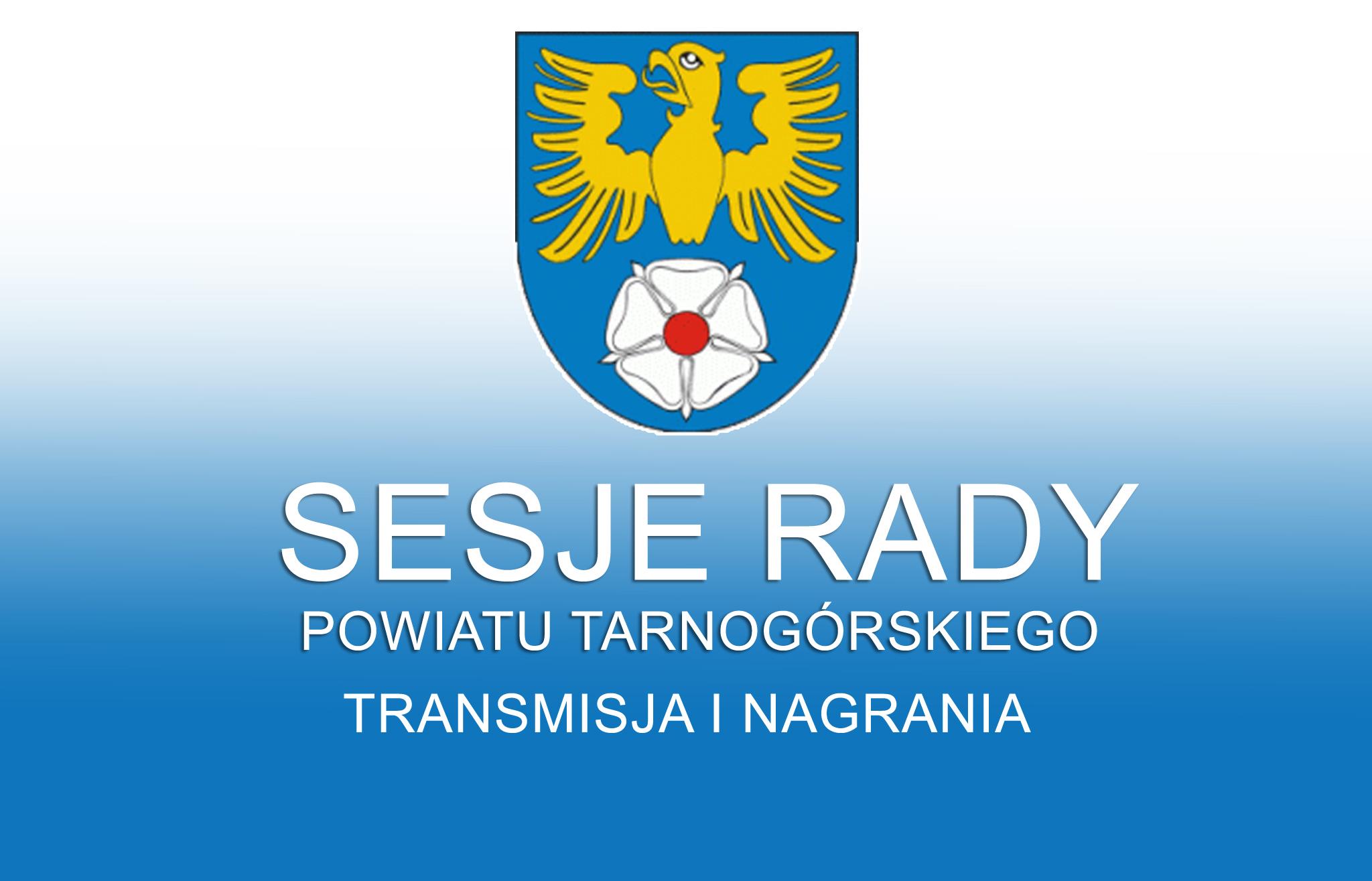 Grafika Sesji Rady Powiatu będąca linkiem do nagrań sesji
