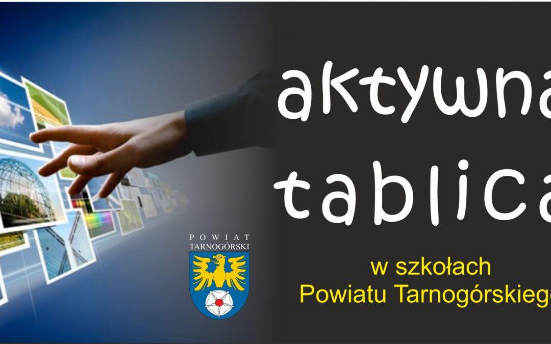 Aktywna Tablica w powiatowych szkołach