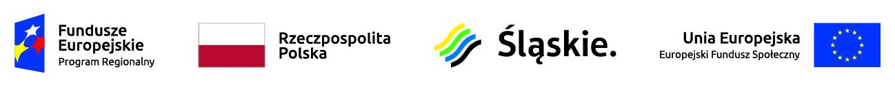 Baner przedstawiający logotypy Funduszy Europejskich, Uni Europejskiej, Województwa Śląskiego i Flagę Polski