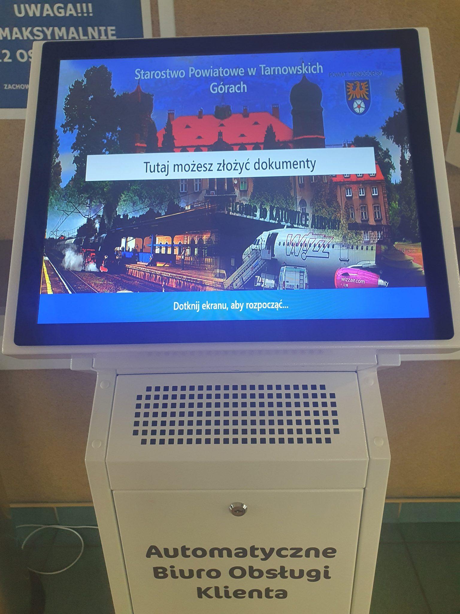 Kiosk - automatyczne biura obsługi klienta
