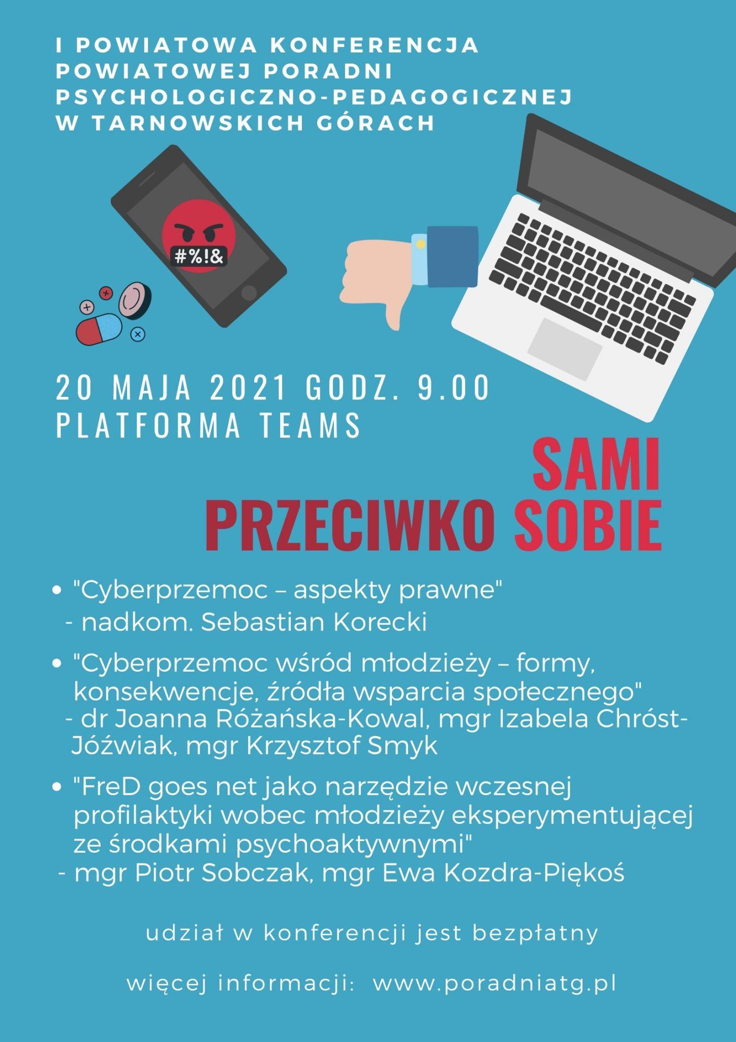 Na obrazku plakat reklamujący konferencję z programem