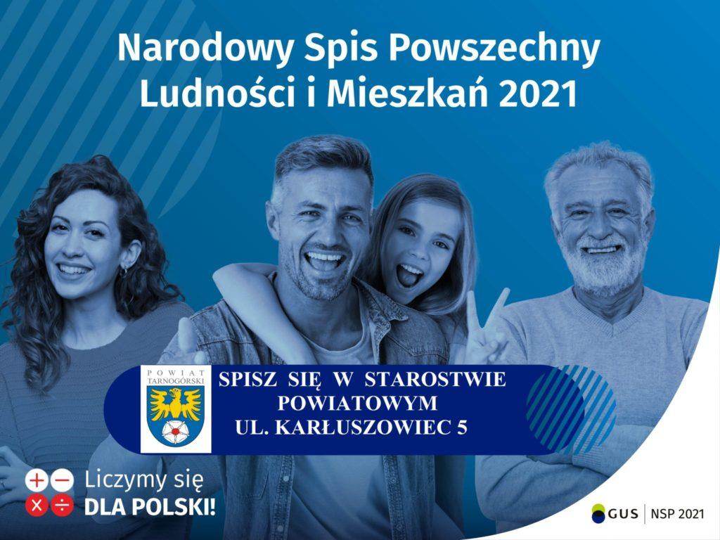 Plakat GUS Narodowy Spis Powszechny Ludnośći i Mieszkań 2021