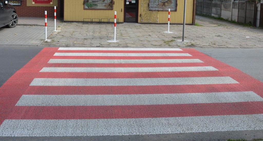 ulica Wyszyńskiego przejscie dla pieszych