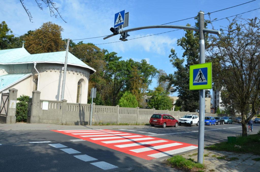 ulica Gliwicka przejscie dla pieszych