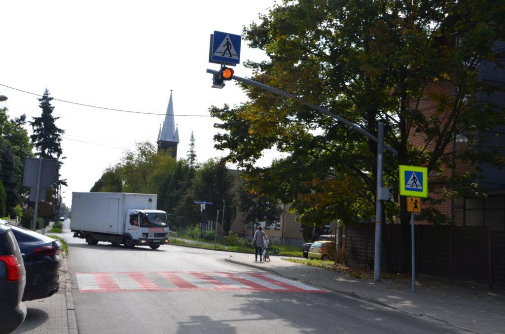 przejscie dla pieszych ulica Kościelna