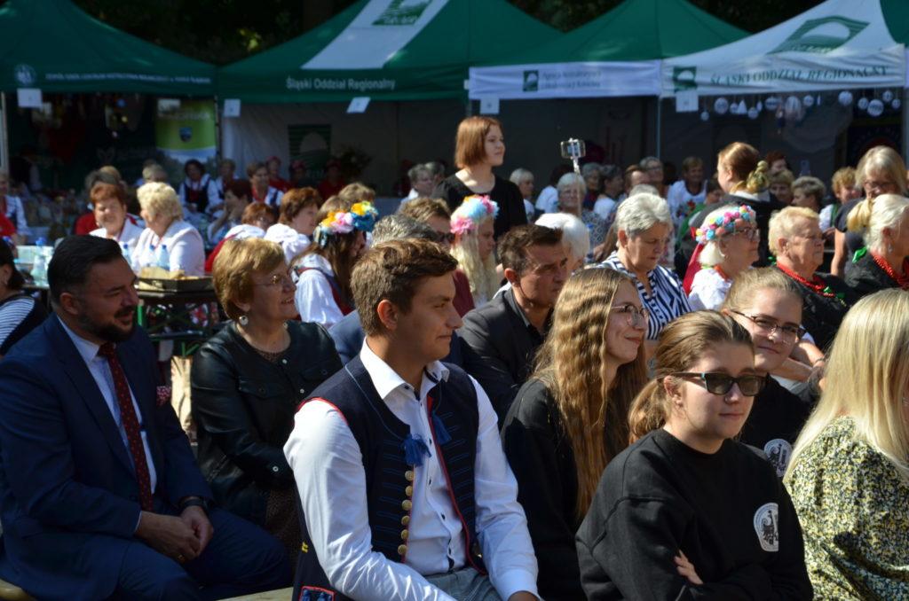 grupa osób na widowni podczas wysłuchiwania przemawiających