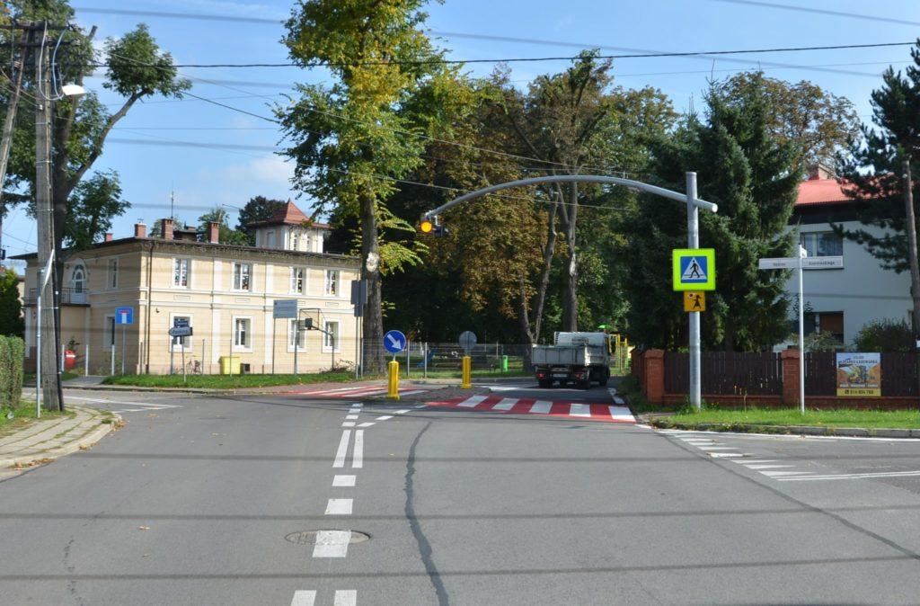 przejscie dla pieszych w MIasteczku  Sląskim ulica Rubinowa