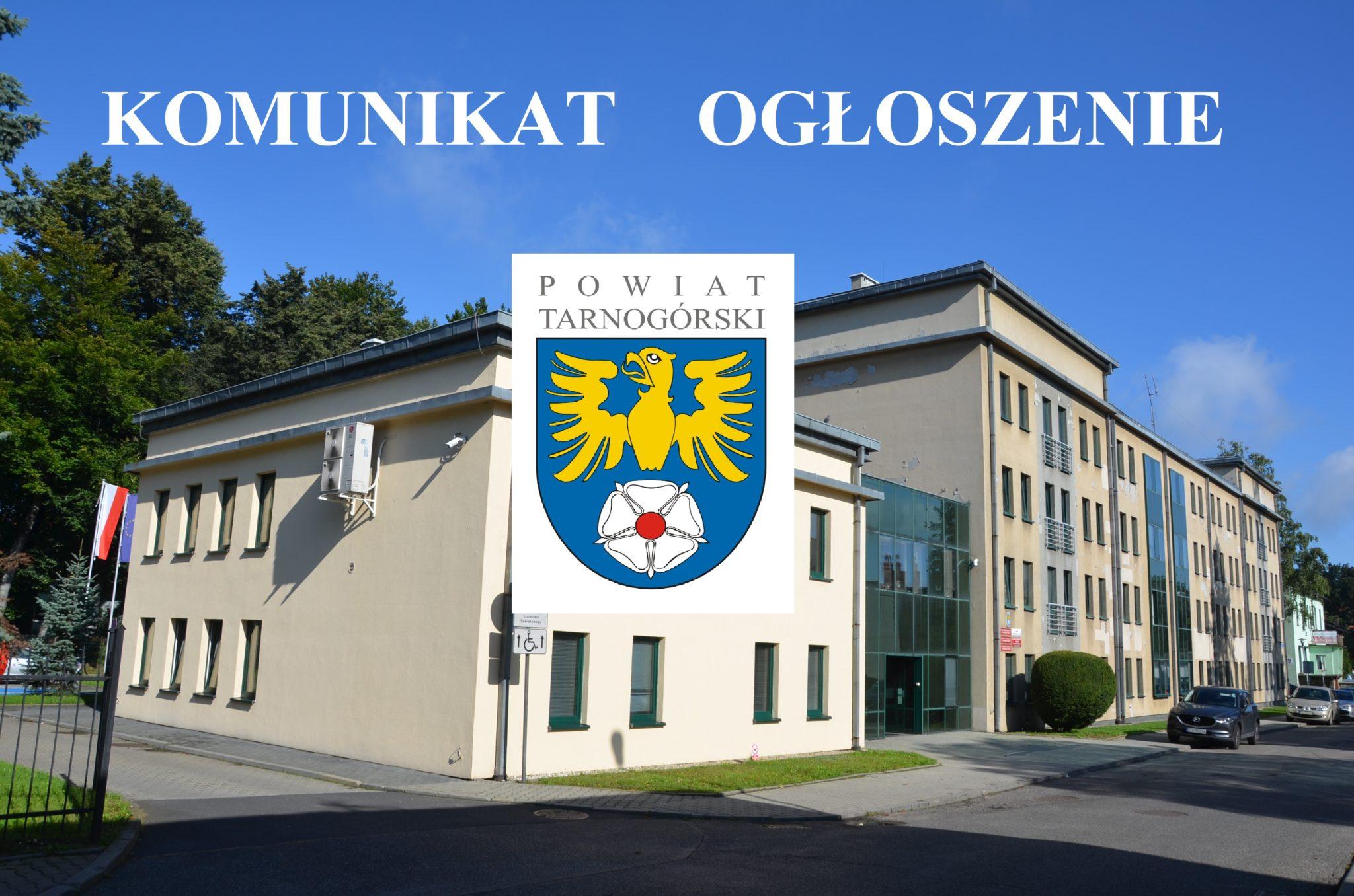 budynek starostwa i logo powiatu