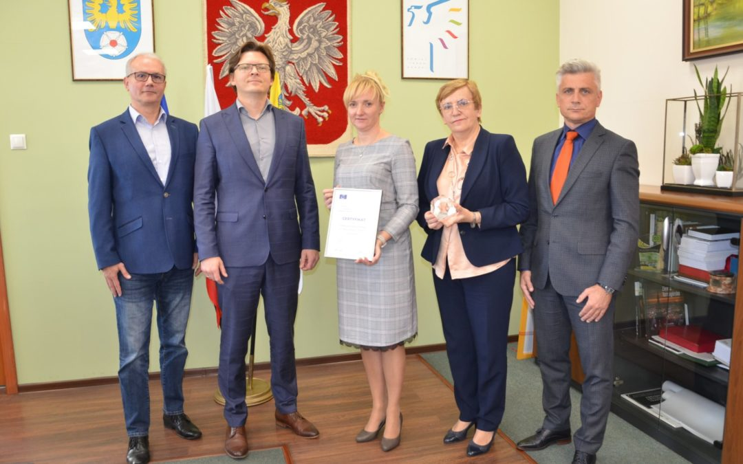 Powiat Tarnogórski jako jedyny powiat w Polsce otrzymał prestiżową nagrodę ELoGE