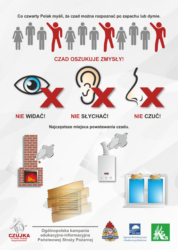 plakat do komunikatu straży pożarnej